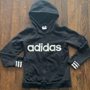 Adidas zippered hoodie youth.  Fits 5-6 year old